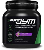 Pre JYM Pre Workout Powder - BCAAs, Creatine HCI, Citrulline Malate, Beta-Alanine, Betaine, and More | JYM Supplement Science | Black Cherry Flavor, 20 Servings