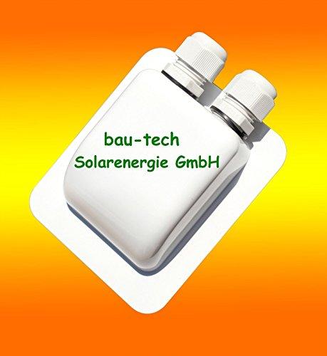 2-fach Solar Kabeldurchführung Dachdurchführung weiss von bau-tech Solarenergie GmbH