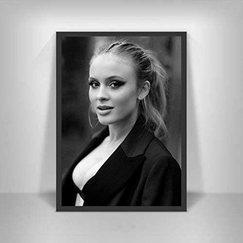 shuimanjinshan Zara Larsson Poster Schwedische Musiksängerin Star Wall Art Picture Poster und Drucke Leinwandmalerei für Room Home Decor 50x70cm Kein Rahmen P-386