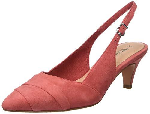 Tamaris Damen 1-1-29616-32 607 Slingback Ballerinas, Rot (Raspberry 607), 38 EU