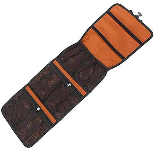 Bolsa de Almacenamiento Colgante Quickdraw de Escalada, Bolsa de Almacenamiento de Escalada en Roca, Bolsa de Almacenamiento de Cuerda de Gancho de Escalada Plegable (Orange Color,2 pcs)