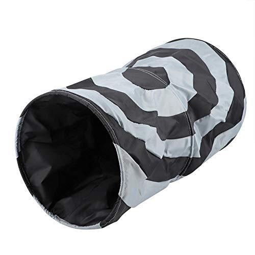 YOUTHINK Túnel Plegable de poliéster para Mascotas, Juguete de Entrenamiento para Interiores y Exteriores, para Mascotas, Gatito, túnel para Gatos, Tubo para Gatos, Juguetes Plegables(Negro)