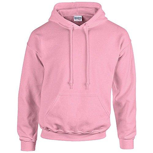 GILDAN - Felpa con cappuccio in tessuto pesante, codice articolo 18500 rosa chiaro XL