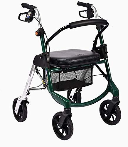 SFSGH Gehhilfe mit Radantrieb Medical Wheel Walking Aid Höhenverstellbar, Rolling Walker mit aufrechter Haltung, superleichtes Aluminium, tragbarer Rollator Walker mit Mobilität und 4 Rä