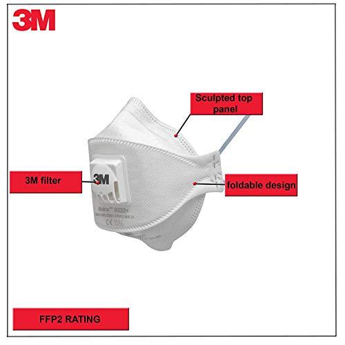 3M Aura 9322+ Atemschutzmaske FFP2 mit Ventil - 2
