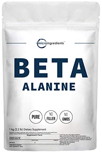Micro Ingredients Beta Alanine Powder, Pure Beta Alanine Supplement, 1Kg (35 Ounce), Amino Energy Pre Workout, Non-GMO