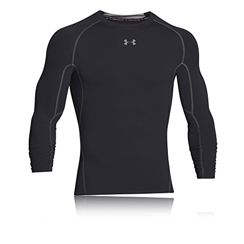 Under Armour Herren UA HeatGear Long Sleeve langärmliges Funktionsshirt, atmungsaktives Langarmshirt für Männer, Schwarz, M