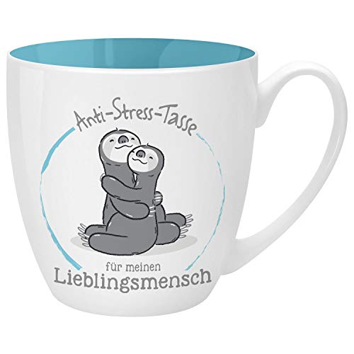 Gruss und Co 46268 Anti-Stress Tasse Lieblingsmensch, 45 cl, Geschenk, Teetasse