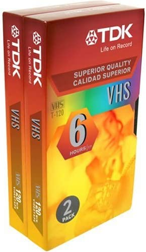 TDK 2-Pack VHS Tapes Sales of SALE Time sale items from new works ST120XPS2