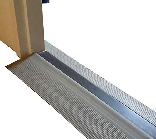 FabaCare Schwellenrampe Gummi mit Bitumen Klebefläche, Rollstuhlrampe, Türschwellenrampe, grau, 20 mm x 150 mm x 1000 mm, Schwellenhöhe 2 cm