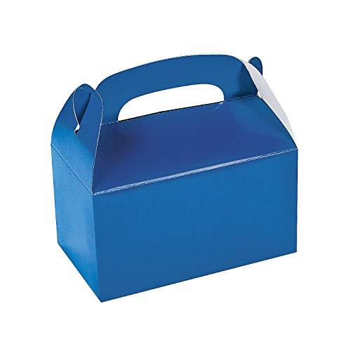 Fun Express Blue Party Favor Treat Boxes - 12 Pieces