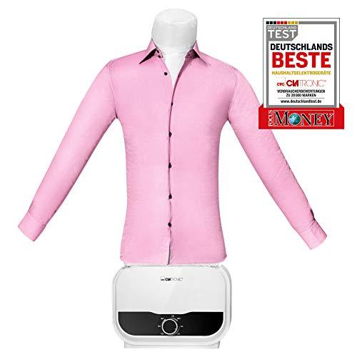 """Clatronic HBB 3734 prasownica do koszul, bluzek i spodni, funkcja 2 w 1 – suszenie i prasowanie w jednym kroku, bezstopniowy timer 180 minut, 1200 W, korpus balonu """"One Size"""" (XS-S-M-L-XL-XXL), biały"""