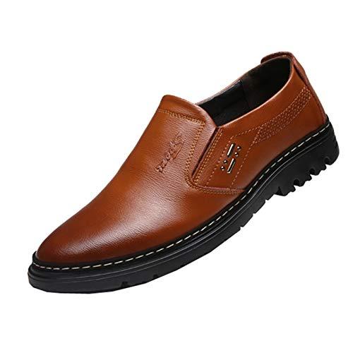 Zapatos de Negocios para Hombre Zapatos Oxford de Cuero sin Cordones Zapatos...