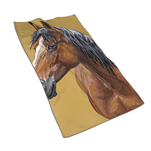 Juloe Handtuch mit Pferdemotiv, schnelltrocknend, bunt