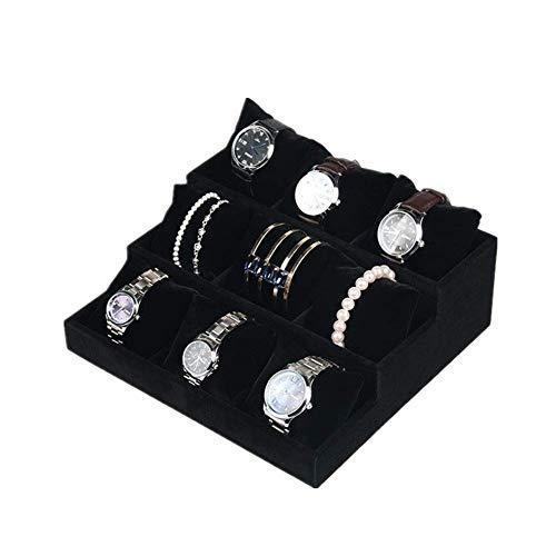 Gofeibao Bracelet Holder Jewellery Stand Necklace Holder Jewellery Tray Jewellery Storage Bangle Organizer Box Jewellery Holder Jewelry Organiser black