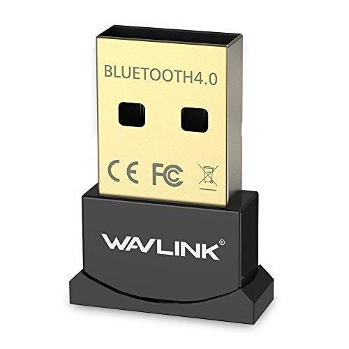 Wavlink Nano Wireless Bluetooth CSR 4.0 Dongle Adapter Bluetooth V4.0 USB Adapter CSR Chip Dongle Stick EDR USB 2.0 Dual-Mode Support Bluetooth Voice data/Music/Printer for laptop/Pad/Headser/BTMpblie