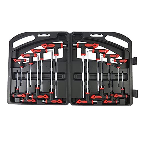 Conjunto de llaves de teclas HEX HEX T-HABLE T-HABLER PROFESIONAL PCS, conjunto de herramientas de la llave de la llave de la llave de la manija T Portátil