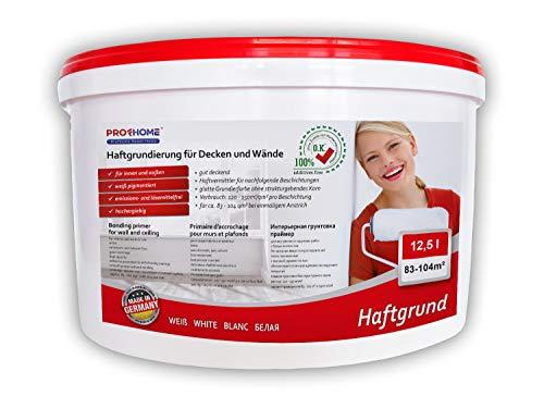 Haftgrund PROFHOME Decken Wand-Grundierung Tapetengrund für Renoviervlies Malervlies Tapeten weiß 12,5 L für 83-104 qm