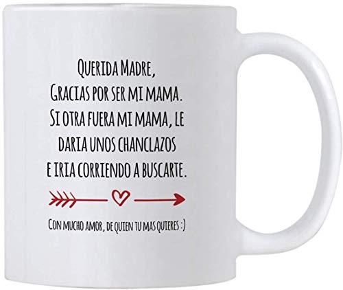 Koffiemok, Thee Beker, Regalo para Mama de Dia de Madres o Cumpleanos, Grappige Gift Ideeën in het Spaans voor Moederdag of Verjaardag, 11 oz Latijnse Moeder Mok, Taza para Cafe para Feliz Dia de La Madre