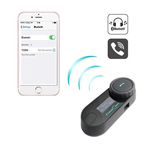 FreedConn Motorrad Intercom TCOM-SC Helm Bluetooth Headset-Gegensprechanlage für Motorrad-Skifahren LCD-Bildschirm / FM Radio / Freisprechen / Reichweite-800M / 2-3Riders Pairing / Schwarz - 3