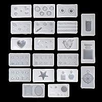 PINH - Molde de Silicona (20 Unidades) 3D Silicona Nail Art decoración Expory Resin Cabochon Joyas Seguidores Mold Set Cyber Monday Oferta 2019