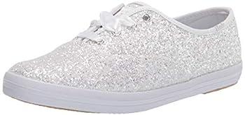 Keds Women s Champion Kate Spade Glitter Sneaker White 8.5