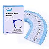 10. TELEPURE Anti Fog Wipes for Glasses (30 Packs), Lens Cleaning Wipes for Eyeglasses, Goggles and Delicate Surfaces, Individually Sealed Easy to Carry