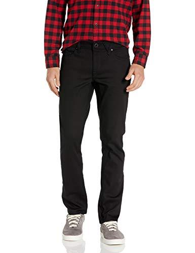 Volcom Men's Vorta Slim Fit Stretch Denim Jean, Black On Black, 28X30