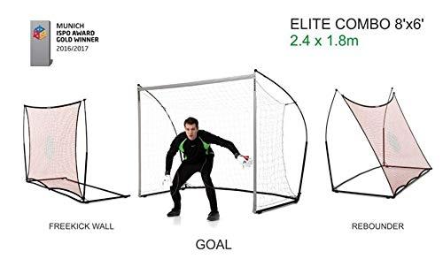 Elite 110QuickPlay Fußballtor mit Rebound-Netz 2in 1