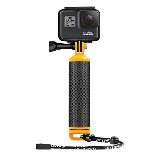 Sametop Floating Hand Grip Waterproof Handle Floaty Handler Compatible with GoPro Hero 8 Black, Hero 7 Black/Silver/White, 6, 5, 4, Session, 3+, 3, 2, 1, Hero (2018), Fusion, DJI Osmo Action Cameras