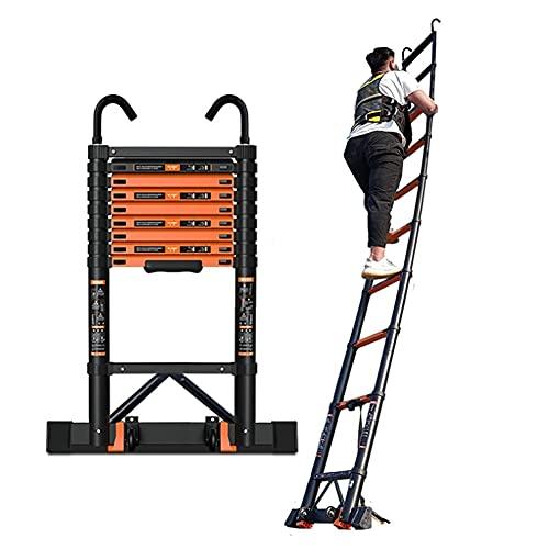 SDHENAILIAN Escalera extensible portátil de alminio extensible extensible extensible extensible escalera de extensión portátil para loft DIY multi propósito, capacidad de 350 libras (tamaño: 5,9 m)