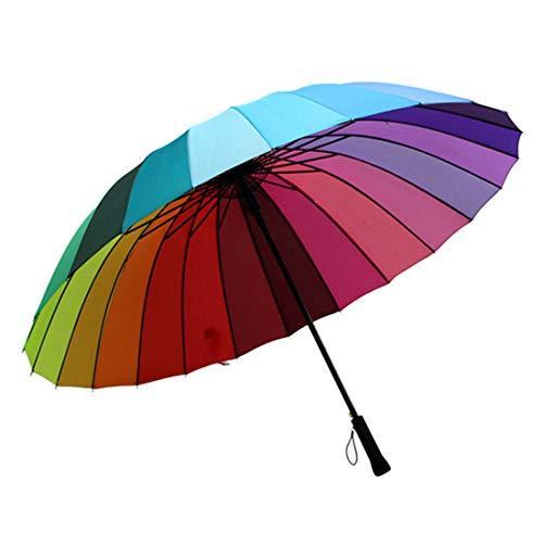 JKHOIUH Regenschirme - High Grade 16 - Bone Anti - Ultraviolet Creative Pool Regenschirm Sonnenschirm , Sonnenschirm Uv-Schutz (Farbe : Multicolor)