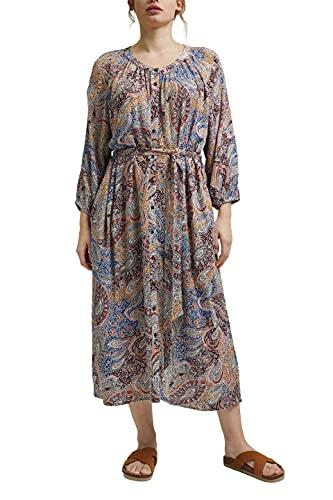 ESPRIT Damen 051EE1E349 Kleid, 293/LIGHT BEIGE 4, 44