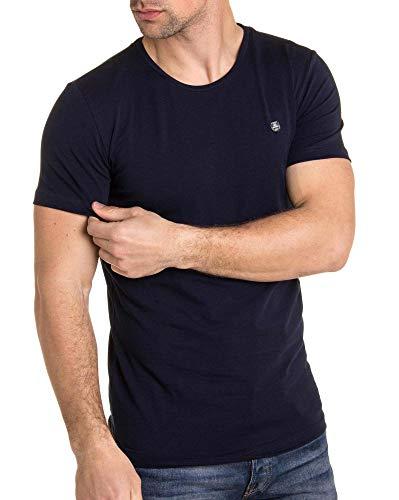 BLZ Jeans-T-Shirt Stretch Blau Uni Kurzarm Herren Gr. 56, blau