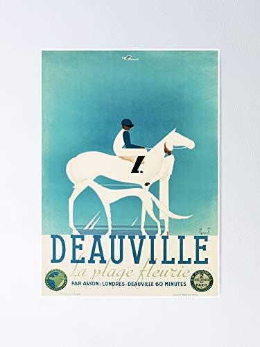 AZSTEEL Art Deco Horse Racing Greyhound Vintage Sport Póster