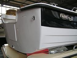 Farello Premium Angelboot 4,65m x 1,78m Weiß/Blau mit 2 Drehsitzen