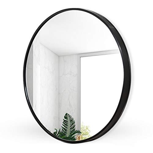 Runder Spiegel, rustikaler Akzentspiegel, 15,7-Zoll-Kreis-Wandspiegel mit Metallrahmen für Waschtisch, Badezimmer, Schlafzimmer, Eingangsbereich und Wohnzimmer