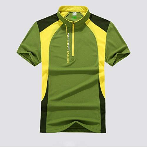 MedusaABCZeus Compression Shirt,Fitness T-Shirt, läuft schnell trocknende Kleidung-grün/männlich_XXL,Fitness Training T Shirt
