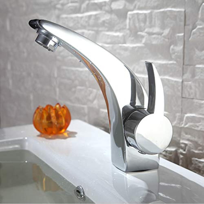 ZHAOSHOP Wasserhahn Bad Messing heien und kalten Becken Wasserhahn einzigen Handgriff Becken Wasserhahn Mond Einlochmontage Becken Wasserhahn
