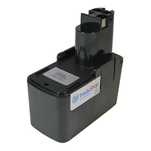 Preisvergleich Produktbild Trade-Shop Premium Werkzeug Ni-MH Akku 9, 6V 2000mAh ersetzt Bosch 2 607 335 035,  2 607 335 037,  2 607 335 072 für GSB 9.6VES GSR 9.6-1 GSR 9.6VE2 9, 6V PSB PSR 9.6VES-2 9, 6VES-2 9, 6VES2