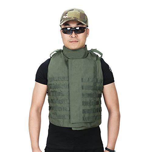HLMJ Al Aire Libre Impermeables Militares Chalecos De Combate Equipo De Protección Entrenamiento Escalada Pesca Caza Chaleco Ajustable Chaleco Táctico (Color : Green, Size : One Size)