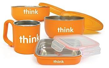 Thinkbaby Complete BPA Free Feeding Set  Orange