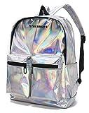 CYBERNOVA Mochila de Cuero de la PU de la Manera Mochila holográfica Bling Glitter Daypack Casual, Bolso del Ordenador...