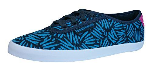 Reebok Classic NC Plimsole Zapatillas de deporte de las mujeres-Blue-37.5