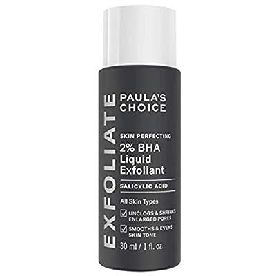 Paula's Choice Skin Perfecting 2% BHA Liquid Exfoliant - Salicylic Acid Exfoliator Peeling for Face - Blackhead, Whitehead & Blemish Remover - Combination, Oily & Acne Prone Skin - Travel size 30 ml