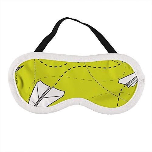 Draagbaar Oogmasker voor Mannen en Vrouwen, Zwart en Wit Papier Vliegtuigen De Beste Slaap masker voor Reizen, dutje, geven U De Beste Slaap Omgeving