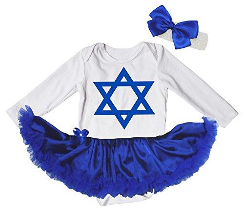 Petitebelle - Body - Bébé (fille) 0 à 24 mois Bleu Blanc - Bleu - L