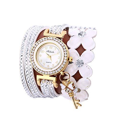 Uhren DamenArmbanduhr Fashion Chimes Diamond Sportuhr Lederarmband Watch Armband Exquisit Uhr Klassisch Uhr,ABsoar