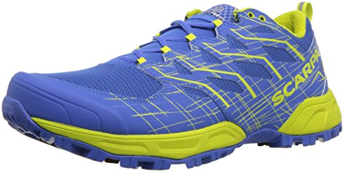 Scarpa Mens Neutron 2 Trail Running Shoe, Grecian Blue/Spring Green, 43.5 Medium EU (10.333333333333334 US)