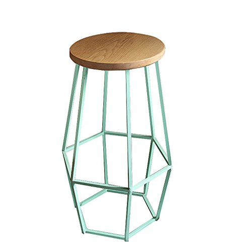 Edge to barkruk American Retro bar tafel en stoel Iron Café Creative bar Chair bar kruk van massief hout modern H:45CM